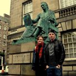 With one of my bros in Edinburgh, Scotland.