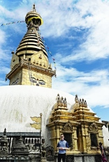 Kathmandu Monkey Temple!