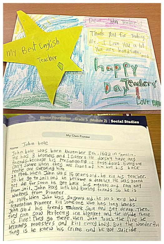 Kindergarten Cutie vs. Middle School Psychopath.