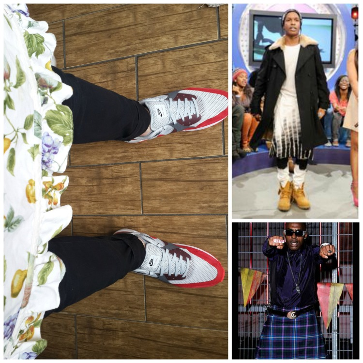 Rappers in skirts...